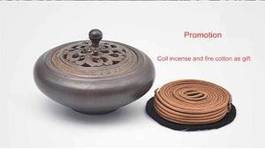 Antique Look Ceramic Plate Incense Burner for Cone or Coil or Joss Stick Incense