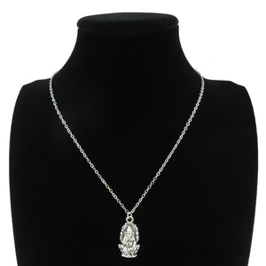 GLOWCAT Vintage Look Silver Alloy Women's Ganesha Pendant Necklace