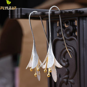 Flyleaf Womens 925-sterling-silver Delicate Flower Earrings. Beautiful!