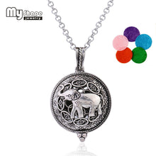 Cute Silver Elephant Diffuser Necklace for Essential Oil.