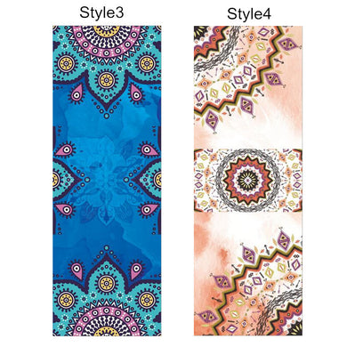 Thin Lightweight Printed Pattern Yoga Mat for Gym, Exercise, Pilates.  Blanket Towel  Yoga Mat