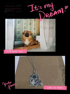 Flyingforest HANDMADE One of a Kind 925 Sterling Silver Necklace Made from Photo of Your Beloved Dog or Cat.