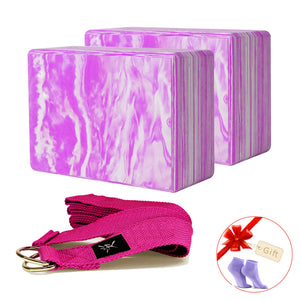 iVIM EVA 2pcs Yoga Blocks with Yoga Belt