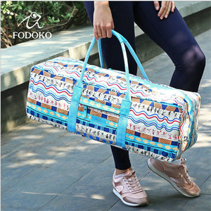 Well Made Large Canvas Sports Bag For Women with Sports Print
