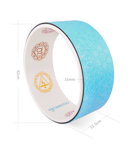 Gorgeous Polyurethane Rubber Yoga Wheel with Inner Laser Engraving.