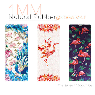 Birds Birds Birds! Natural Rubber Non Slip Yoga Mats. Use for the Gym, Pilates, Travel.
