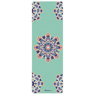 Natural Rubber Printed Yoga Mats. Non-Slip Comfort for Gym, Pilates, Yoga