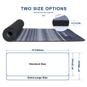 Matymats TPE & Microfiber Yoga Mat Looks Like a Nordic Print Sweater. Comes in 2 Sizes.