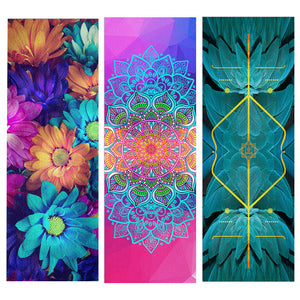 Color Glorious Color! Natural Rubber Suede Yoga Mat. Ultra-light Portable Yoga Mat