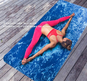 This is Not Your Skinny Mat!  WIDE TPE Non-Slip Camouflage Yoga Mat.