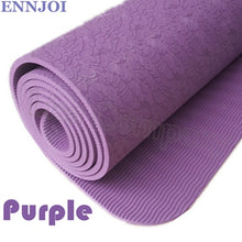 6MM Thick TPE Yoga Mat, Non-slip Exercise Pad for Pilates,Gym, Yoga
