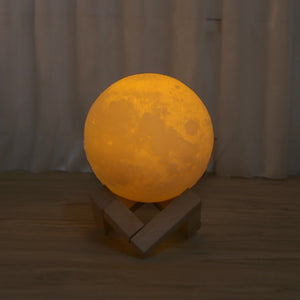 YAM  3D Magical LED Luna Night Light, USB Chargeable.
