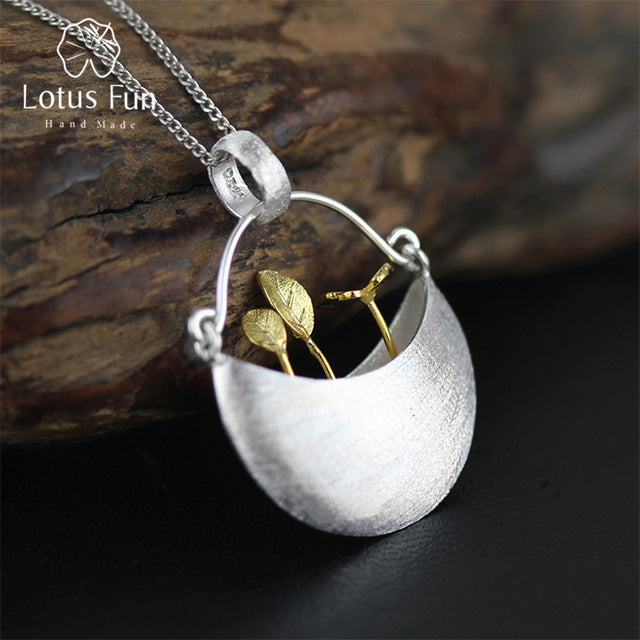 Lotus Fun 925 Sterling Silver Handmade Fine Jewelry