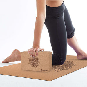 Silite Natural Cork Yoga Block for Stretching, Balance