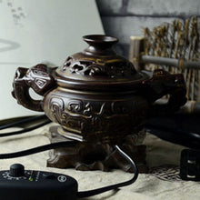 Relax Already! Glazed Electric Incense Burner for Essential Oil, Incense. Plug in with Timer.