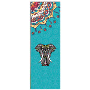 Yoga Mat Natural Rubber w/Sueded Top . Non Slip and Portable, Lots of Pattern Choices.