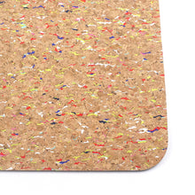 Non-slip Colorful Cork and TPE Antibacterial Yoga Mat
