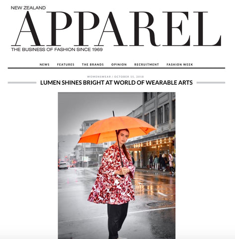 Apparel Magazine features Lumen Clothing