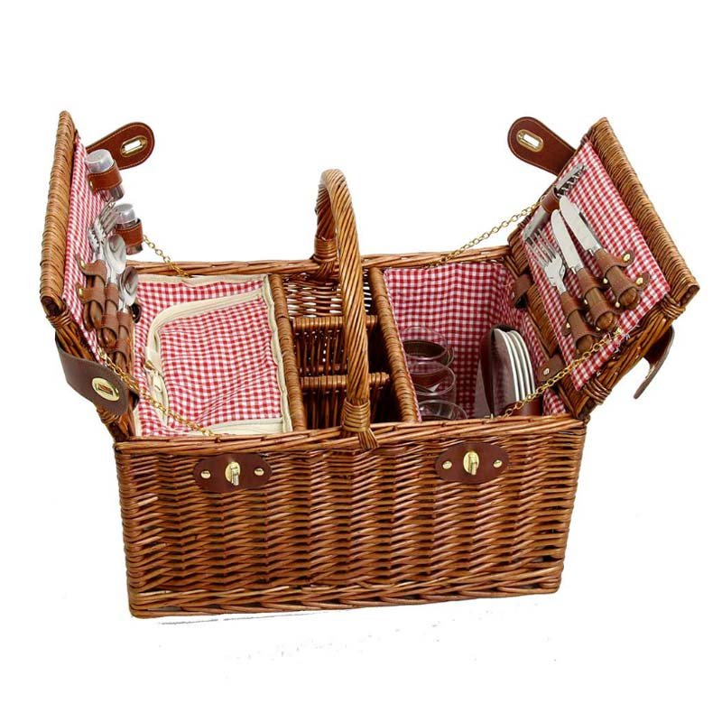 Picknickkorb Saint Germain 4 Personen Rot - Gustavia Shop