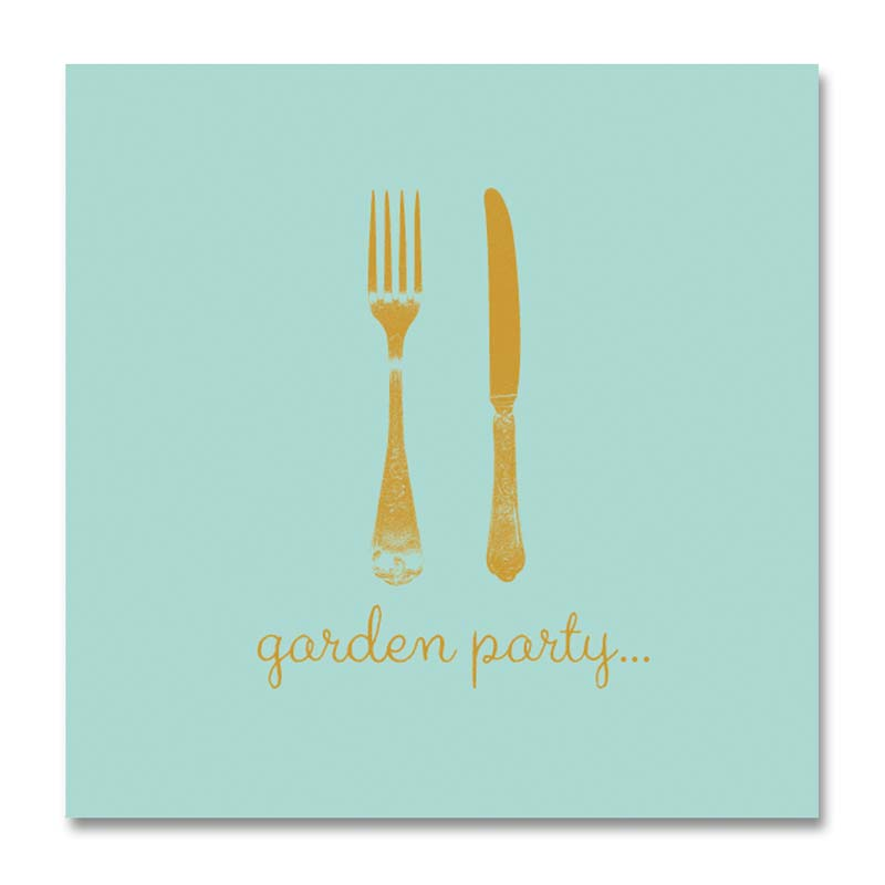 Dinnerservietten aus Papier – Garden Party - Gustavia Shop