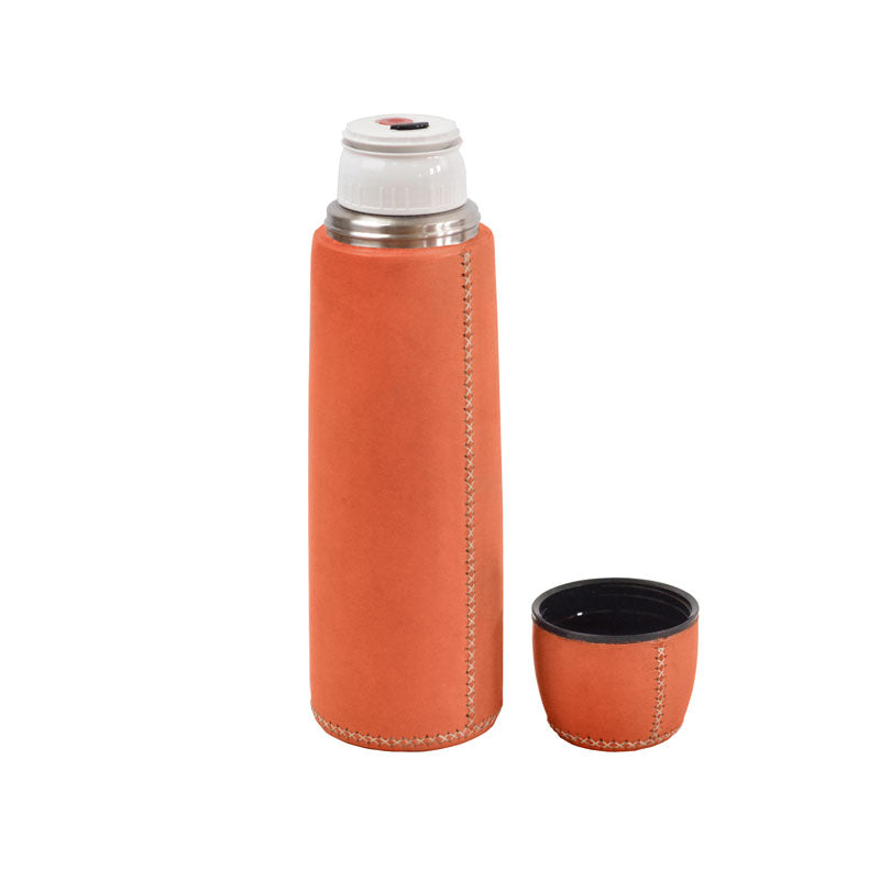 Thermosflasche Leder 0,7 Liter - Gustavia Shop