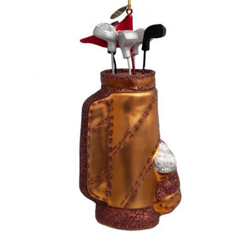 Glas-Christbaumanhänger Golf-Caddy - Gustavia Shop