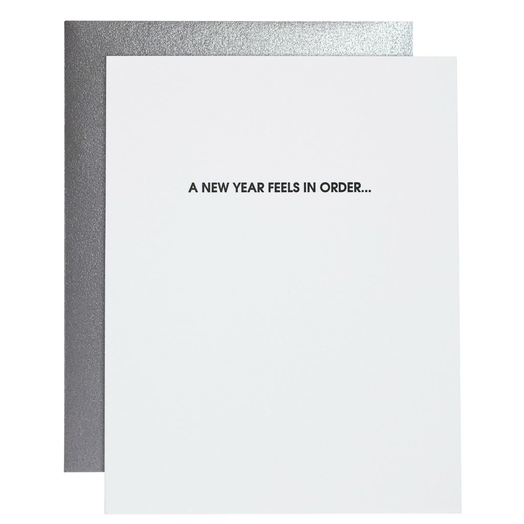 Chez Gagne - A New Year Feels in Order Card