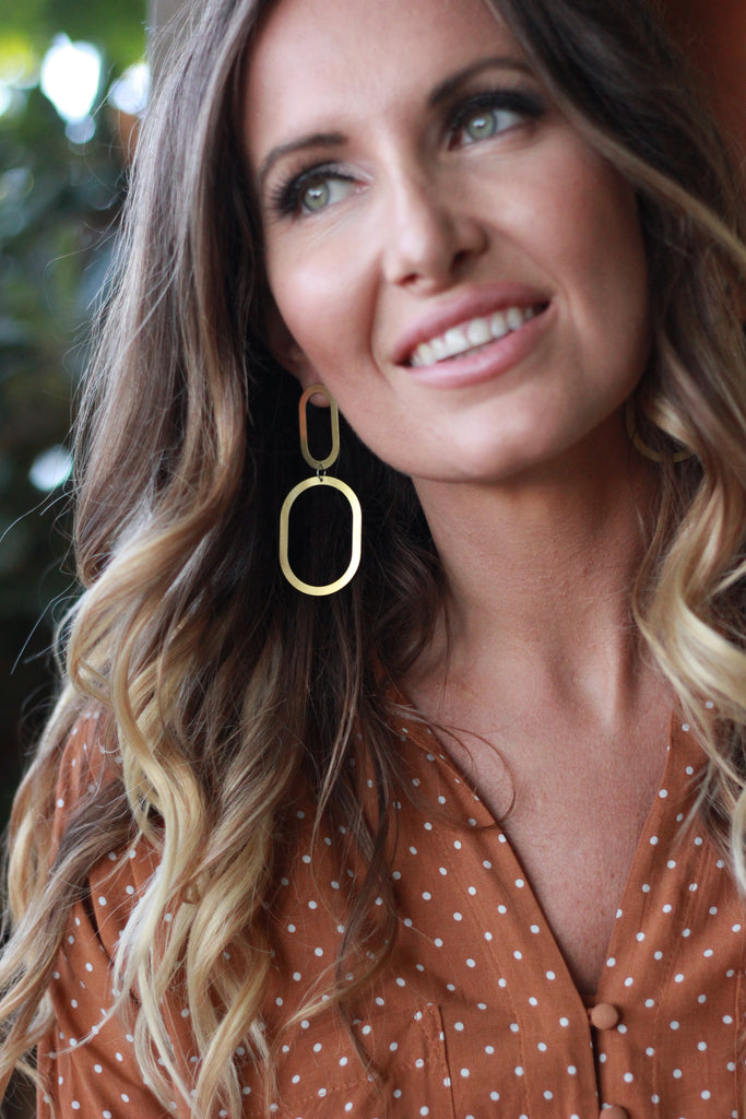Natalie Joy - Double Oval Earring
