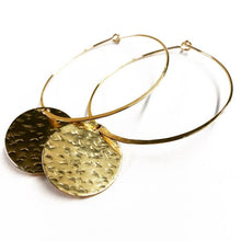 Load image into Gallery viewer, Agapantha - Large Gold Filled Cassidy Hoops