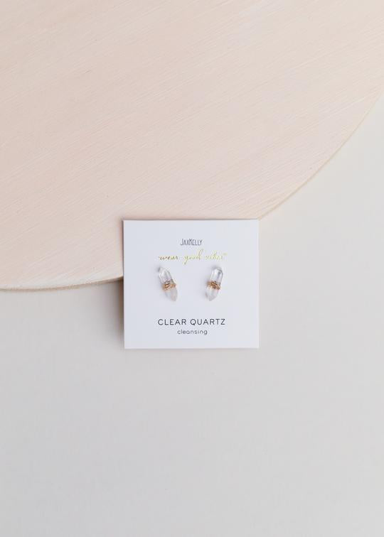 Jax Kelly - Clear Quartz Mineral Point Earring