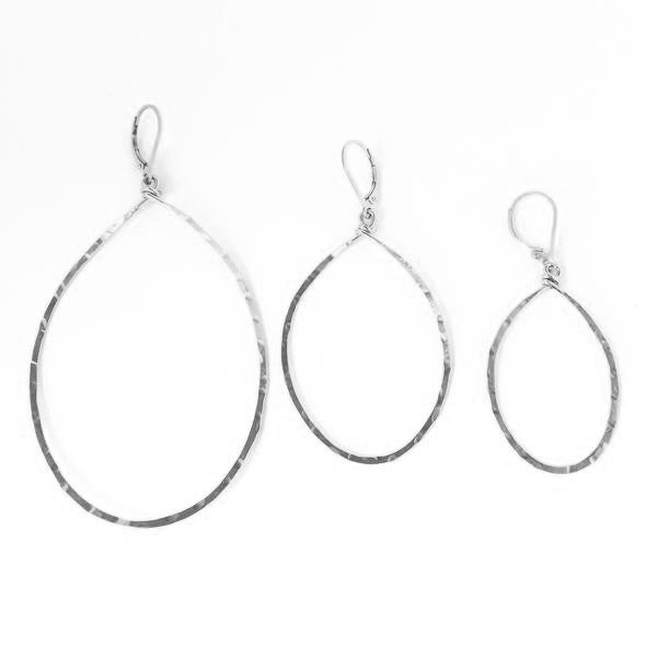 Agapantha - Sterling Silver Hanna Hammered Hoops