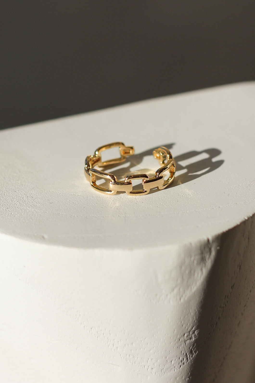 Raptor-Gold Plated-Thin Chain Link Ring