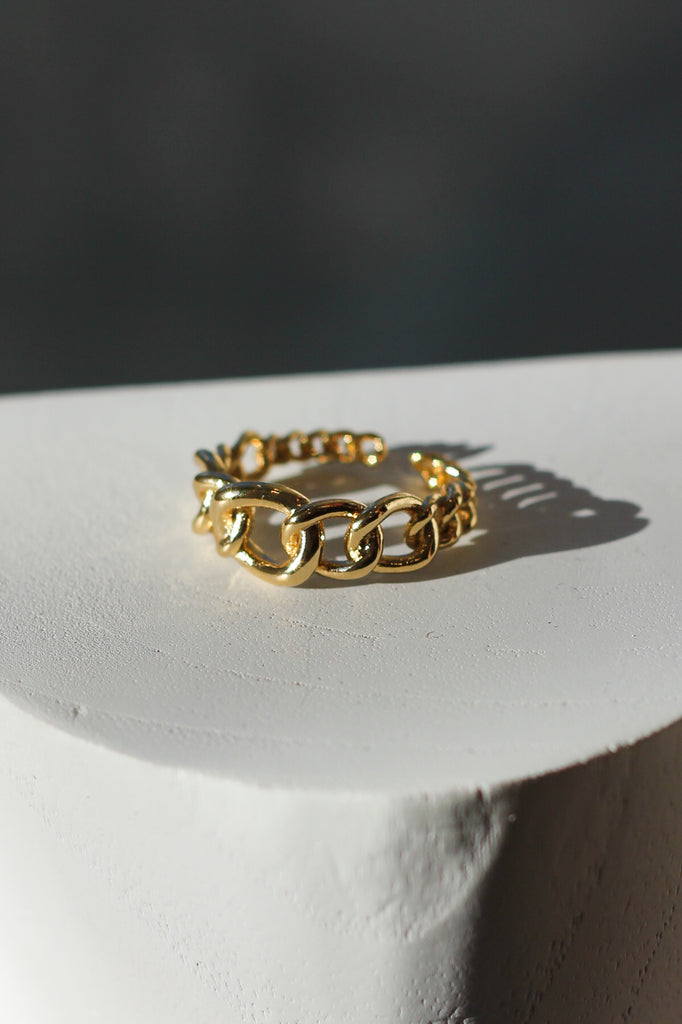 Raptor-Gold Plated-Chain Link Gradient Ring