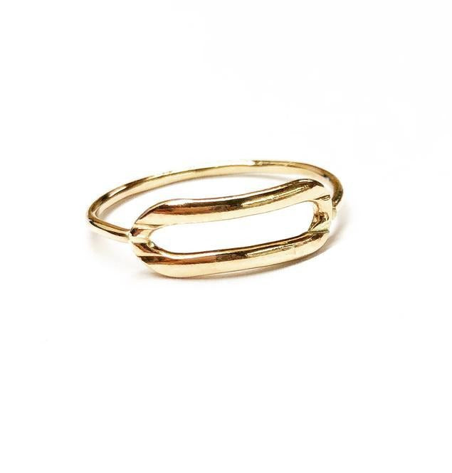 Krystal Link Ring-14k Gold Fill
