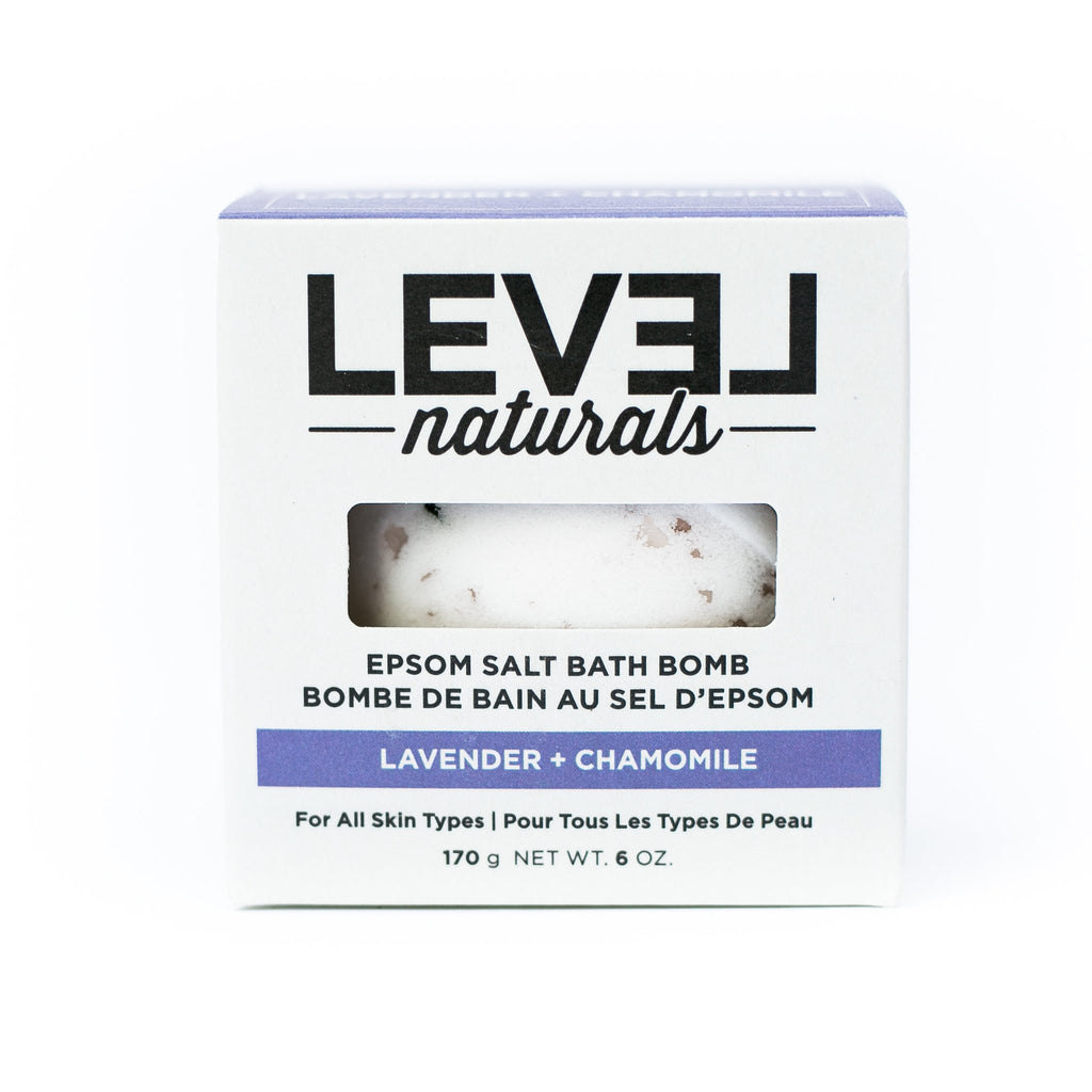Level Naturals - Lavender & Chamomile Epsom Bath Bomb Single
