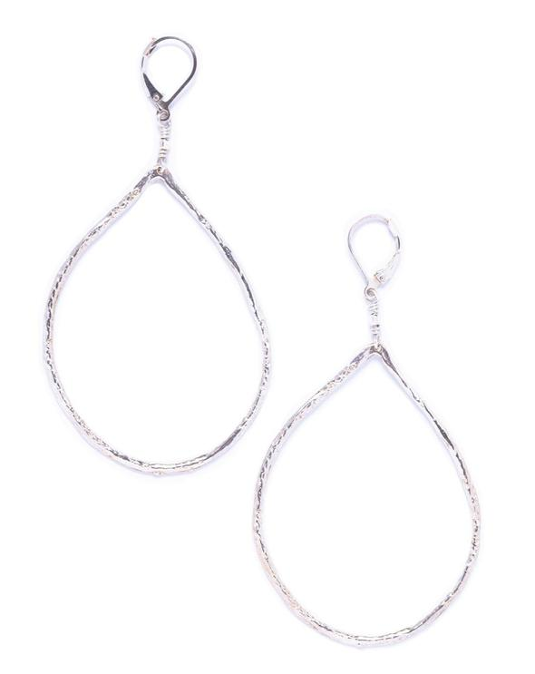 Lisa Marie Jewelry - Large Silver Teardrops Hoops