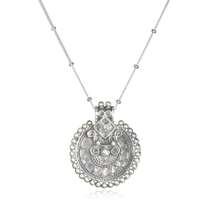 Satya - Silver Mandala Necklace
