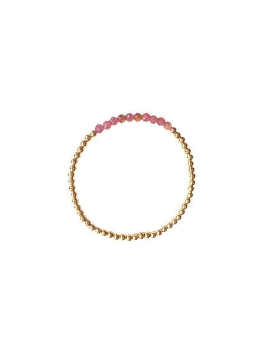 City Bracelet-Pink Tourmaline-3mm-LeMel
