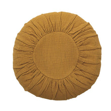 Load image into Gallery viewer, Bloomingville - Round Cotton Pillow in Mustard