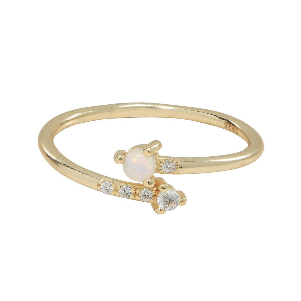 Ofina - Opal & CZ Arrow Ring