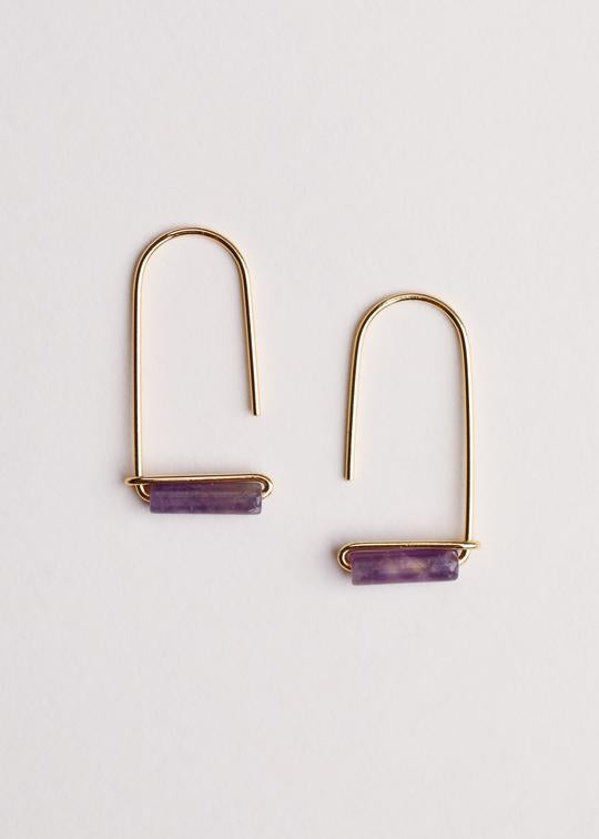 Jax Kelly - Amethyst Gemstone Drop