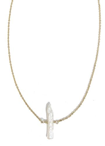 Lisa Marie Rough - Biwa Pearl Necklace