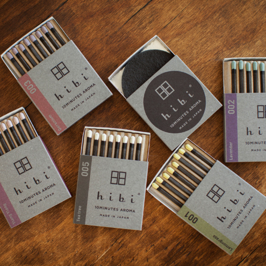 Hibi - Incense Matches 8 pc + Burning Pad