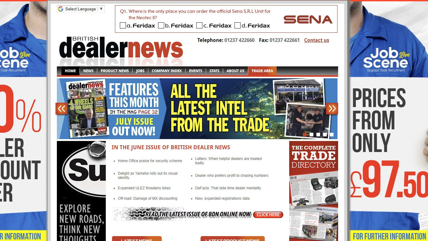 Proud to appear in British Dealer News