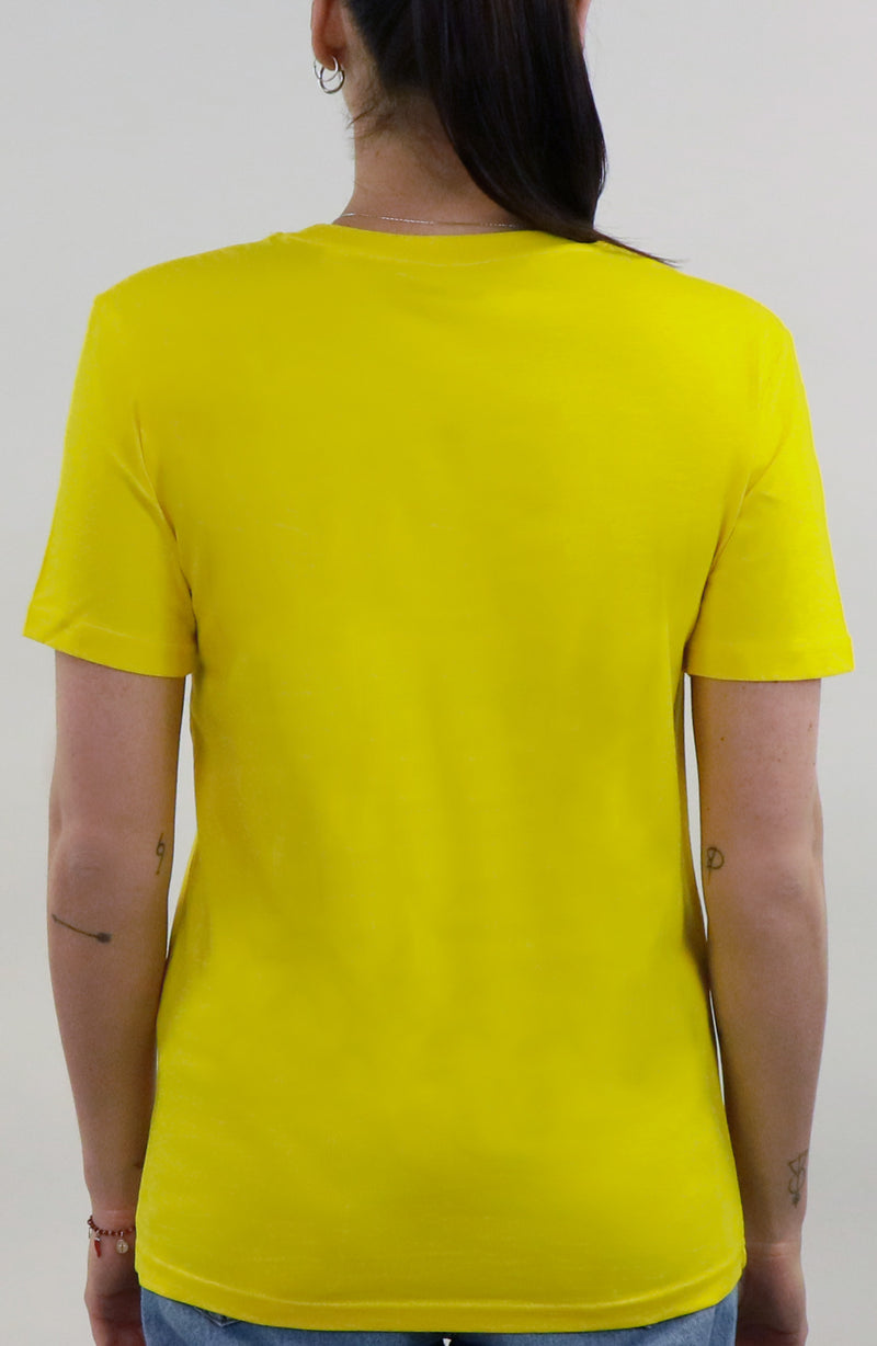 T-Shirt streetwear yellow for woman by Farid Rueda