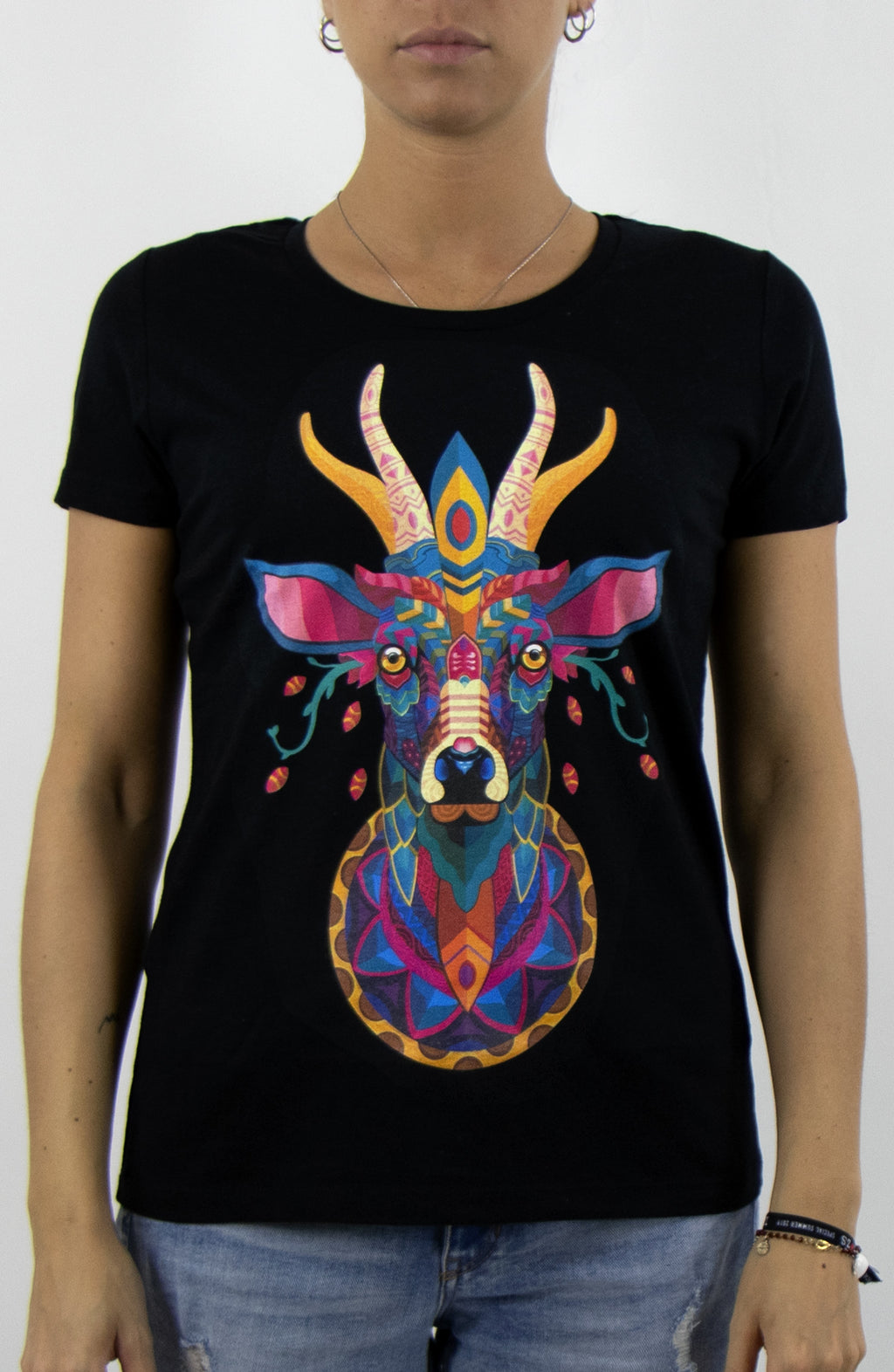 T-Shirt streetwear black for woman by Farid Rueda