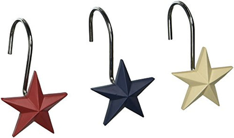 Texas Star Shower Hooks, Medium, Multicolor
