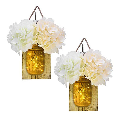 Mason Jar Sconce - Set of 2
