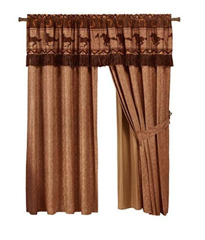 4-Piece Southwestern Wild Horses Curtain Set - Calico Trails at Clear Creek Farm