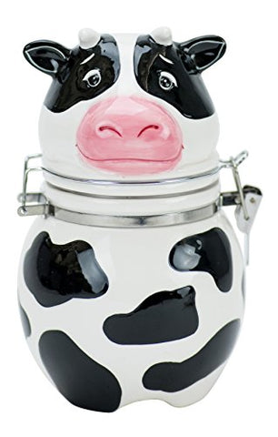 Udderly Cow Hinged Jar, Hand Painted Ceramic
